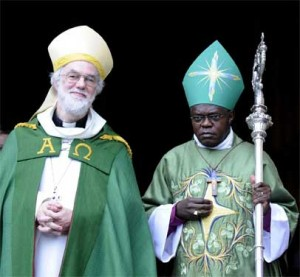 ...for gods sake Sentamu, smile, you will make us look ridiculous if you dont!