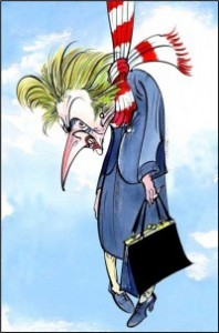 Maggie courtesy of Gerald Scarfe - (I think he'd caught the essence - don't you?)